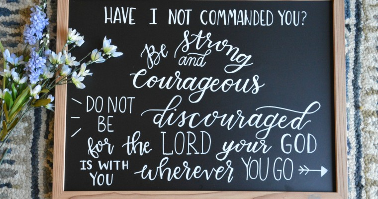 {Do Not Be Discouraged} Chalkboard Sign